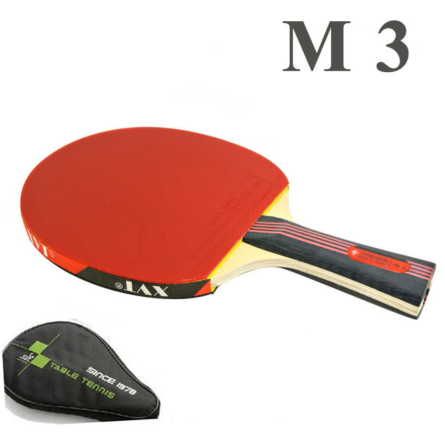 Sale Professional  M3 Table Tennis Racket/ ping pong Racket/ table tennis bat  With Hurricane Rubber  Send Whole Cover case