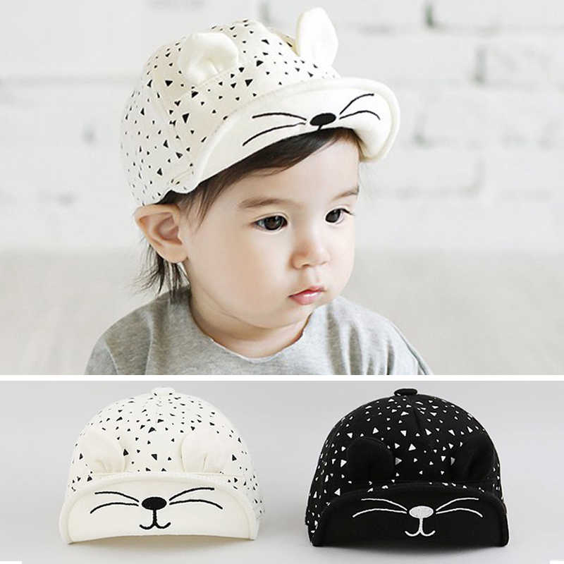 dfd853619c1f Detail Feedback Questions about baby hat summer cute cat ear ...