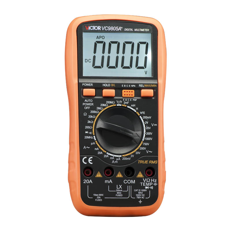 Ammeter Multitester 2000 Counts Resistance Capacitance Inductance Temperature Victor Digital Multimeter VC9805A+ ammeter multitester 2000 counts resistance capacitance inductance temperature victor digital multimeter vc9805a