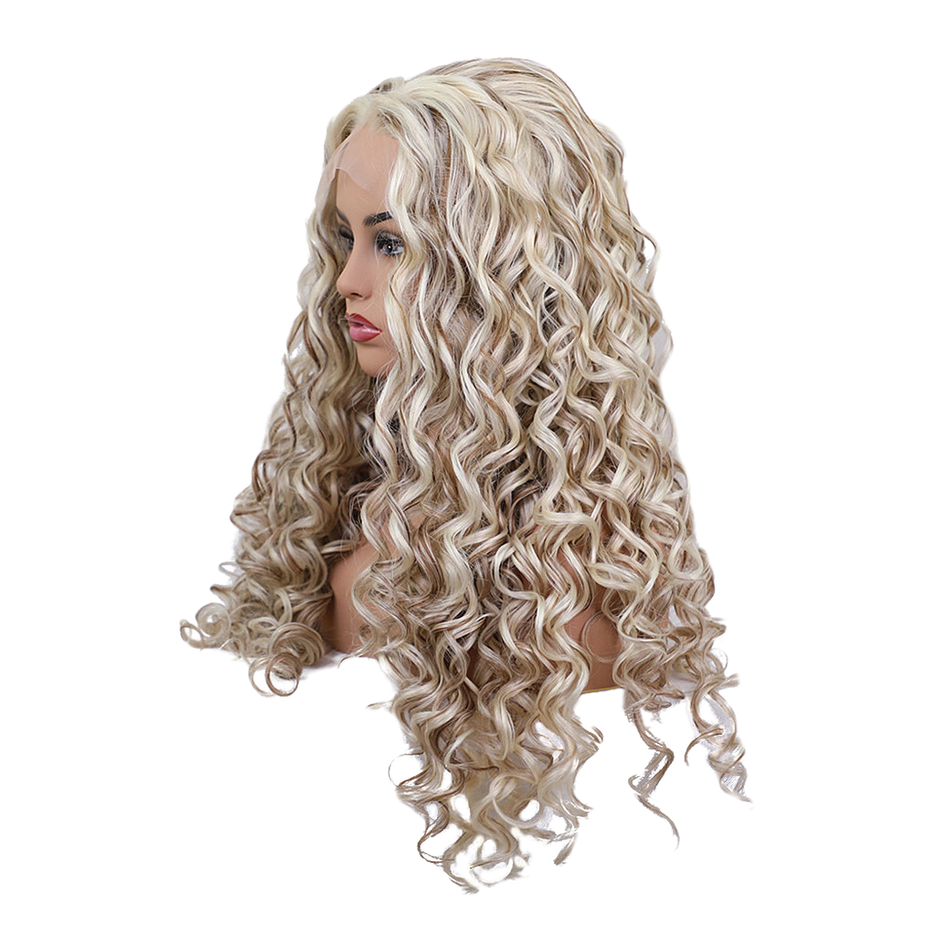 Women Heat Resistant Long Curly Wig Hairpieces Synthetic Cosplay Wig 60 cm 27inchWomen Heat Resistant Long Curly Wig Hairpieces Synthetic Cosplay Wig 60 cm 27inch