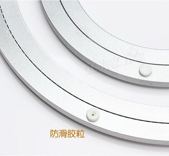 Swivel Platten 2 Stücke 14 Zoll 35 Cm Großhandel Aluminiumlegierung Lazy Susan Drehteller Esstisch Schwenkplatte Für Küchenmöbel