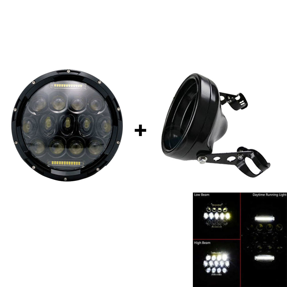 Free Shipping 7inch Motorcycle Led Headlight High/Low Beam 7