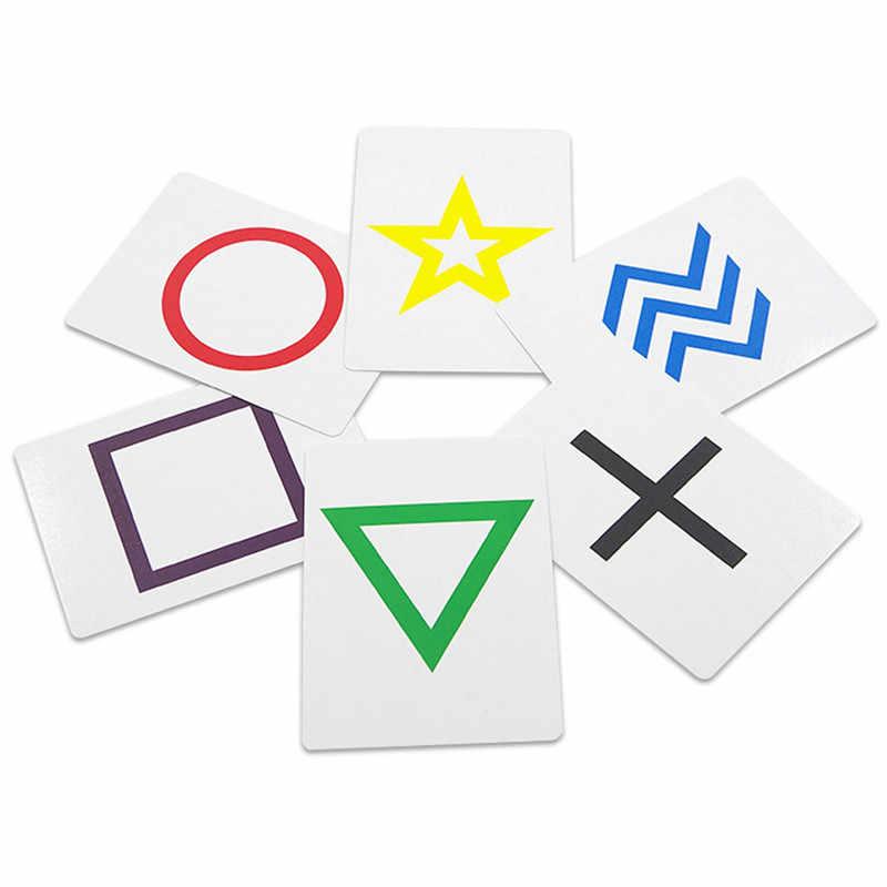 1 Set Roterende Esp Voorspelling Kaart Goocheltrucs Close Up Rekwisieten Illusion Medeplichtige Magie Goochelaar Fancy Comedy Mentalisme Speelgoed