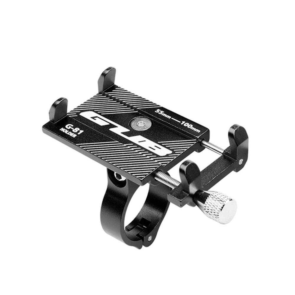 Aleación de aluminio bicicleta titular del teléfono 3,5-6,2 pulgadas teléfono celular GPS soporte teléfono bicicleta ciclismo soporte de montaje