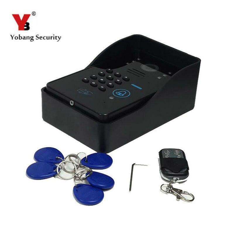 Yobang Security Remote Controller/RFID Keyfobs/Password Outdoor Camera For Video Door Phone Door Camera Entrance Machine