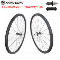 700C carbon clincher road wheelsets 30mm 23mm clincher with Powerway hub FSC30CM 23 tubeless compatible design