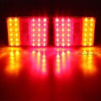 DC 12โวลต์กันน้ำ30 LEDไฟท้ายสีแดงสีเหลืองอำพันด้านหลังหางแสงสำหรับรถบรรทุกรถพ่วง