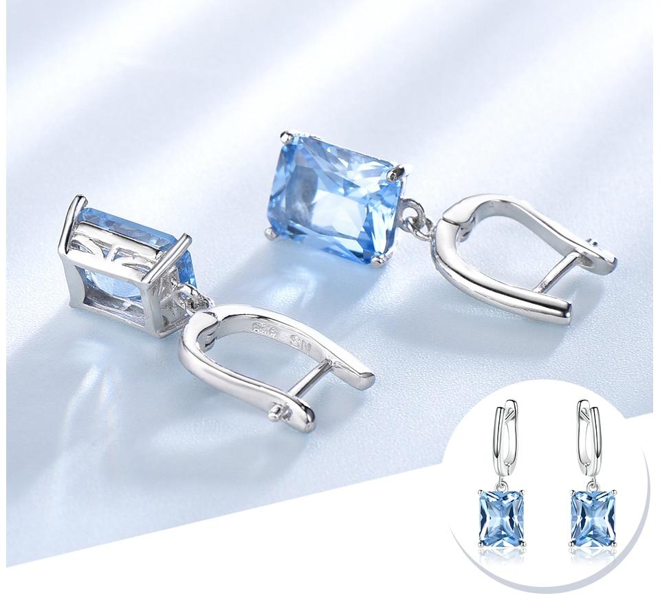 UMCHO ?Nano Sky Blue Topaz 925 sterling silver earring for women EUJ094B-1-pc (4)