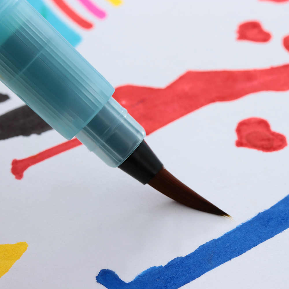 1 Pc Superiore Pennello Rifornimenti di Arte Della Penna di Stoccaggio di Acqua Waterbrush Serbatoio di Acqua Pennello Penna Penna di Calligrafia