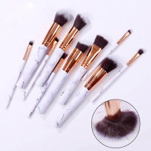 10pcs Marble Patten Makeup Brush for Cosmetic Powder Foundation Eyeshadow Lip Make up Brushes Set Beauty Tool