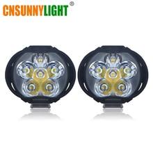 Cnsunnylight супер яркий 1000lm мотоциклы светодиодные лампы фар Скутеры туман Spotlight 6500 К Белый Рабочая пятно света 9-85 В