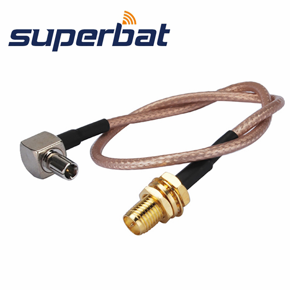 Superbat SMA Female Jack To TS9 Male Plug Pigtail Coaxial Cable RG316 20cm For USB Modems ZTE MF668+