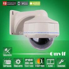 Onvif H.264 2.0 Megapíxeles 1080 P Full HD POE Cámara IP 30 IR Domo A Prueba de Vandalismo Al Aire Libre Cámara de Vigilancia