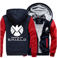 Hot New The Avengers Age of Ultron Captain America Agents of S.H.I.E.L.D. Hoodie Logo Winter JiaRong Fleece Mens Sweatshirts