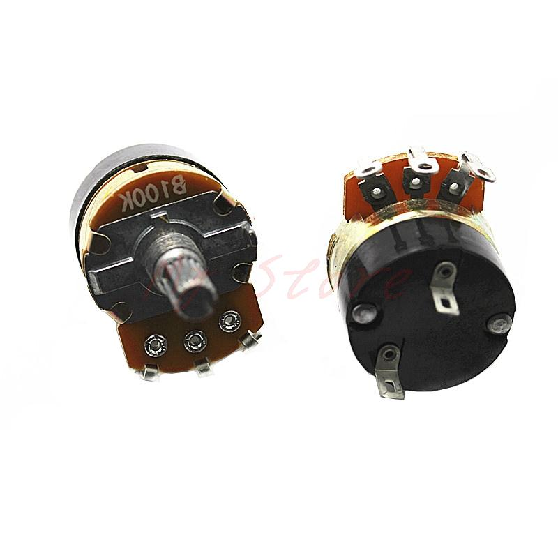 2pcs WH138-1 potentiometer with switch dimmer switch adjustable resistance  B500K resistance 24 type b500k quality potentiometer resistance range