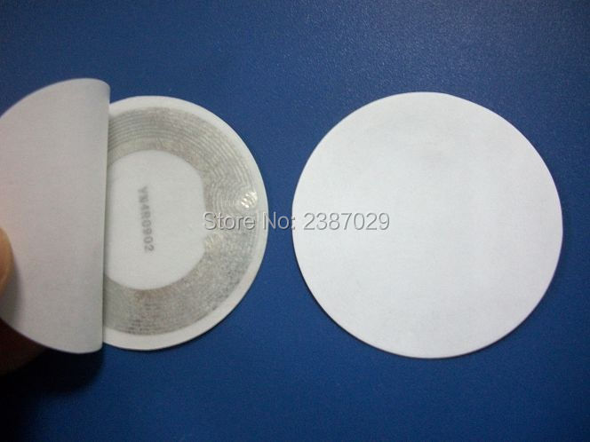 Factor Direct Sale 13.56Mhz 25mm Diameter Round White NFC Sticker/tag RFID Label for Access Control System 1000pcs/lot 1000pcs long range rfid plastic seal tag alien h3 used for waste bin management and gas jar management