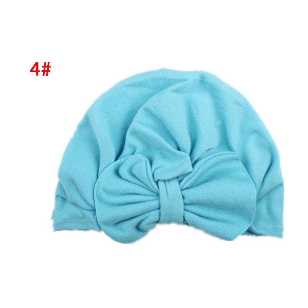 Бант для новорожденных шапочка для новорожденного, для малыша реквизит для фотографии Индия девочки младенческие креативные Детские аксессуары реквизит Удобная вязаная шляпа с бантом - Цвет: blue