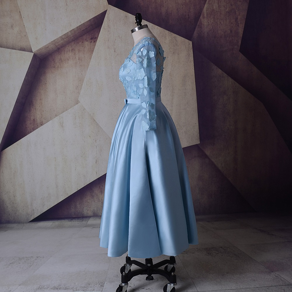 SoDigne Party Dress Sky Blue Short Wedding Dresses Tea Length Cheap ...