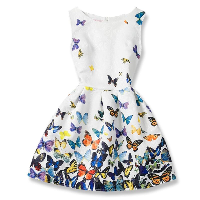 Kids Girls Dresses Butterfly Sleeveless Princess Dresses for Kids Clothes Baby Girl Tutu Dress Fashion Kids Clothing Vestidos 1