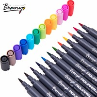 Bianyo Dual Head Sketch Art Marker 0 8mm Drawing Pen 12Colors Box Manga Markers Set Stationery