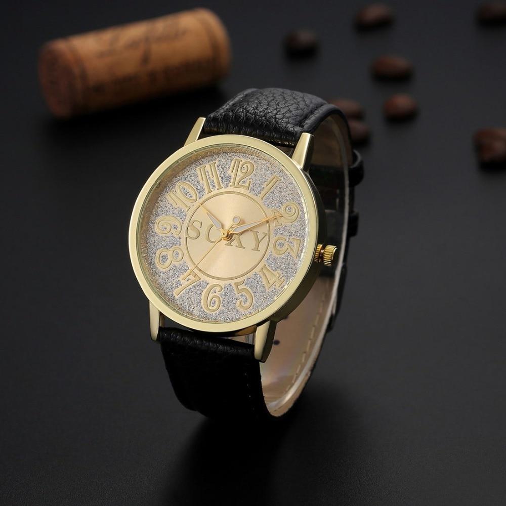 Golden Luxury New Men's Watch Fashion Quality Business Mens Watches Leather Simple Male Clock Relogio Masculino Erkek Kol Saati