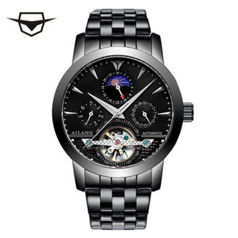 AILANG professional elite men mechanical steel band hour watch, multi - functional fashion leisure steel band boutique watch цена и фото