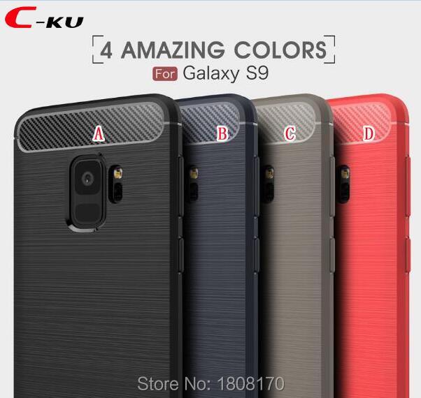 C Ku Carbon Fiber Brush Hybrid Armor Case For Samsung Galaxy S9 Plus For Huawei Nova