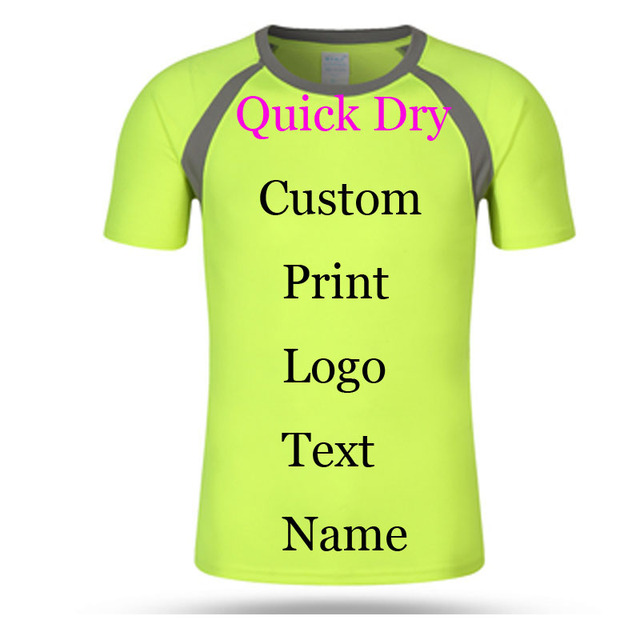 e48f2e738 Custom Print Quick Dry T shirts Logos Name Embroidery Advertisement Digital Print  tees jersey 100% Poly Breathable perspiration