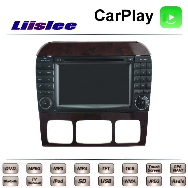 For Mercedes Benz S W220 1998~2006 LiisLee Car Multimedia TV DVD GPS Radio Carplay Original Style Navigation Navi