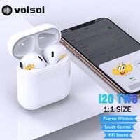 New i20 TWS Pop up W1 Chip 1:1 Bluetooth Earphone 6D Super Bass Sound Earbuds Wireless Earphones i20tws PK i10 i30 i60 i80 i12