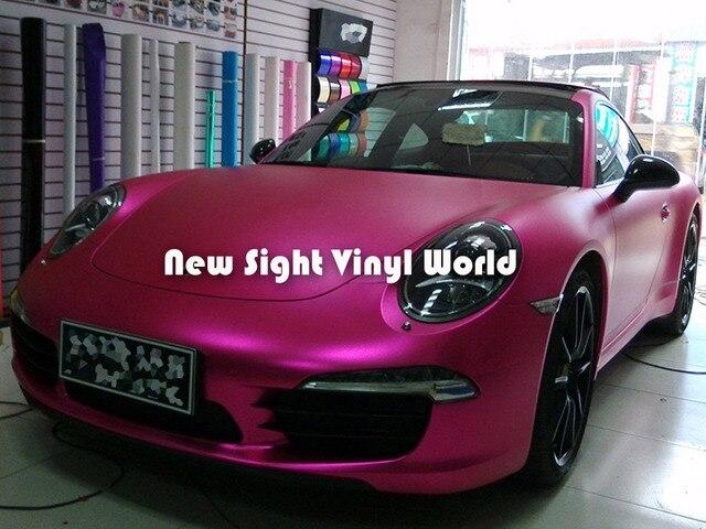 high quality rose matte red metallic vinyl roll rose matte metal vinyl wrap air free car