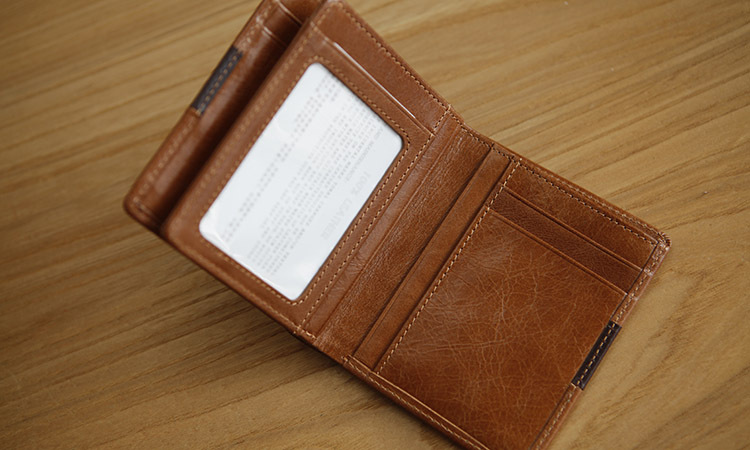 LAN Free shipment mens business high quality wallet color mathing waxy short multi holders small wallet gift