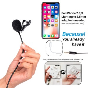 Image 5 - BOYA BY M1 Vlog Audio Video Record Microphone for iPhone Android Mac Lapel Mic Lavalier Microphone for DSLR Camera Camcorder