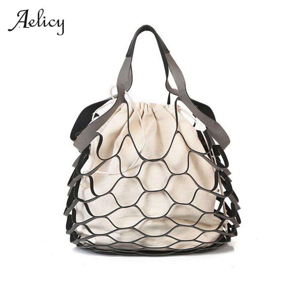 Designer Hollow Out Bucket Bags Small Shoulder Tote Handbag Bolsos Mujer Bolsa Feminina