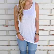 ZYFPGS 2019 Spring Summer Woman Tank Top Women New Arrivals Off White Casual Streetwear #D0098
