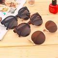 Freeshipping 1 unids moda marco gafas de sol new unisex ronda retro circle semi-sin montura al por mayor 2016 de la moda