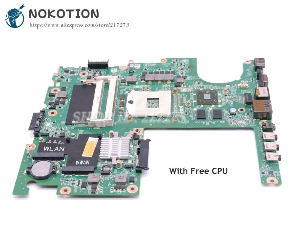 NOKOTION For dell Studio 1558 Laptop Motherboard CN-04DKNR 04DKNR DA0FM9MB8D1 HM57 HD5470 DDR3 Free cpu nokotion for dell inspiron m301z n301z laptop motherboard cn 072wd6 072wd6 hm57 i5 470um cpu ddr3 hd5430 graphics