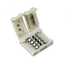 20 штук 10 мм Solderless 4PIN RGB печатной платы разъем для 3528 2835 5050 не Водонепроницаемый RGB Светодиодные ленты Освещение