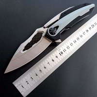 Brave Fighter ZT 0999 Folding Knife ZT0999 D2 Steel Carbon Fiber CNC Blade Bear Ball Knife