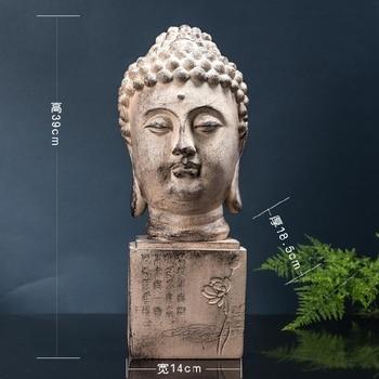 wholesale Buddha figure # TOP efficacious HOME family Protection Talisman Buddhism Retro Ornamental Buddha statue-39cm large