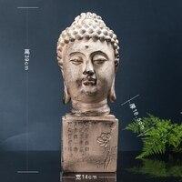 wholesale Buddha figure # TOP efficacious HOME family Protection Talisman Buddhism Retro Ornamental Buddha statue 39cm large