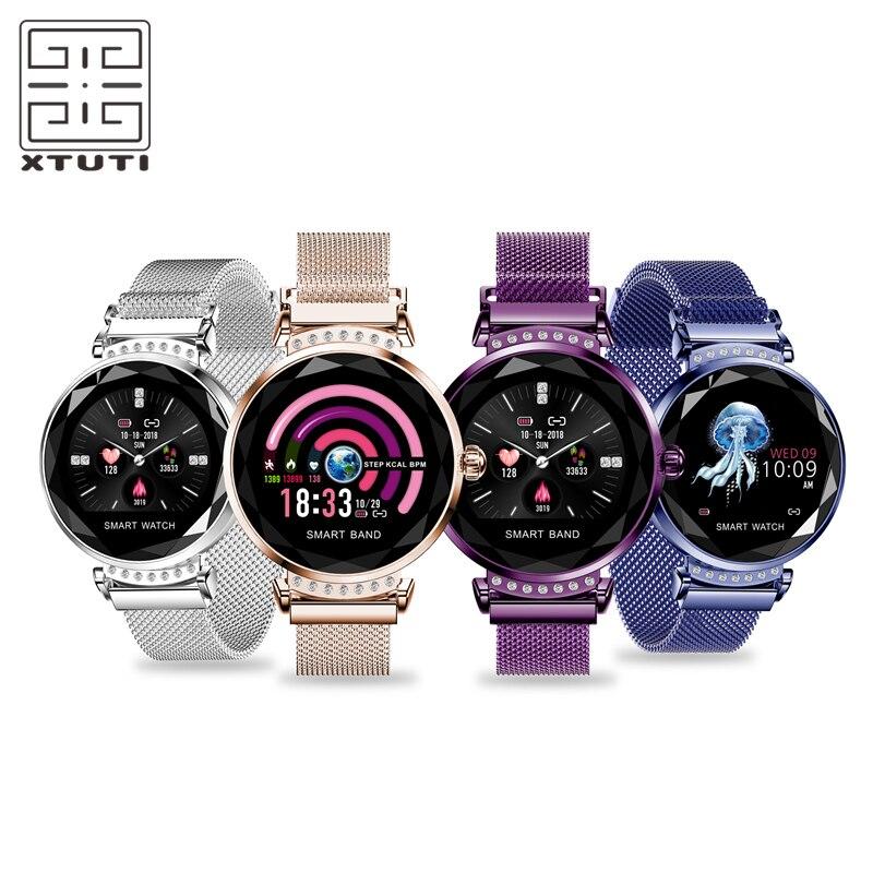 Montre intelligente étanche femmes dames Smartwatch aimant boucle tension artérielle moniteur de fréquence cardiaque Tracker pour android IOS
