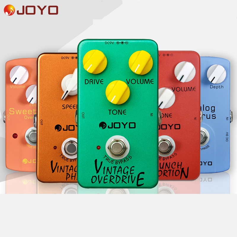 JOYO High-gain Overdrive Pedal Guitar Effects Pedal High-power Drive Booster Tube Overload Stompbox True Bypass Guitar Effect diy booster boost clean guitar effect pedal boost true bypass booster kits fp