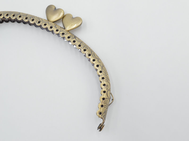 12.5cm Metal Purse Frame Handle for Clutch Bag Handbag Accessories Making Kiss Clasp Lock Antique Bronze (3)