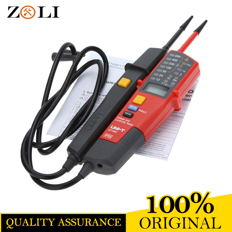 UNI-T UT18C Auto Range Voltage Meter Continuity RCD Tester LCD/LED Detector UT18C good quality one year warranty offer цена