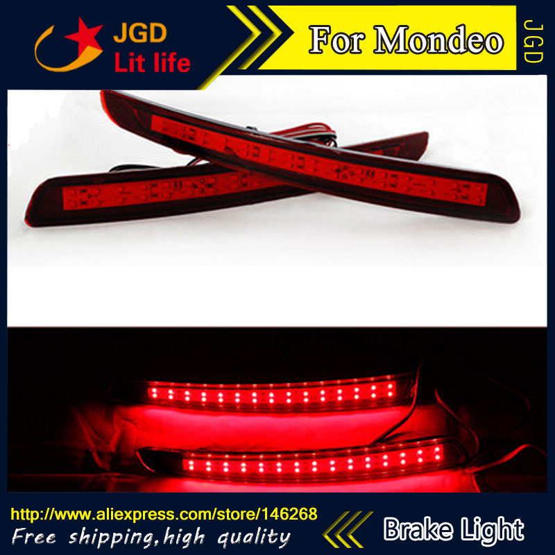 Free shipping Tail light parking warning rear bumper reflector for Ford Mondeo 2010-2012 Car styling free shipping tail light parking warning rear bumper reflector for ford mondeo 2010 2012 car styling