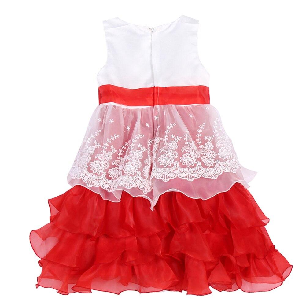 Дети блесток торжественное платье вечернее платье цветок свадебное платье принцессы Праздничное платье для девочек красные платья для пер...