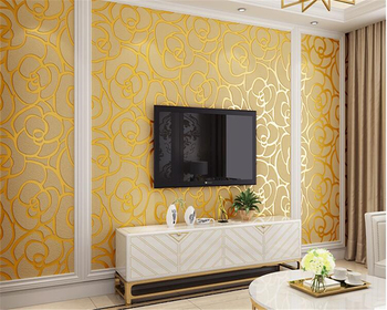 beibehang tapety elegant and fresh pastoral flower wall paper modern fashion bedroom living room backdrop nonwoven 3d wallpaper beibehang European nonwoven papel de parede 3d wallpaper living room bedroom study restaurant rose deerskin stereo TV wall paper