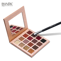 IMAGIC 16 Colors Shimmer Matte Eyeshadow Palette Kit Make Up Eye Shadow With 1pcs Soft Material