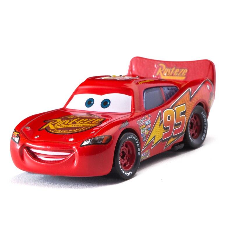 Disney Pixar Cars 3 Classic Lightning Mcqueen Jackson Storm Mater 1:55 Diecast Metal Alloy Model Car Toy Children Gift Boys